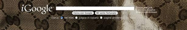 Il tema d'artista di Gucci per iGoogle