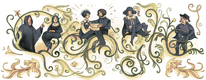 Google Logo: Alessandro Manzoni's 227th birthday - Italian writer.