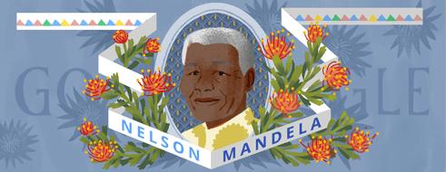 Nelson Mandela Doodle Foto 18 luglio 2014