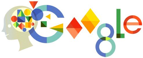 Doodle Google del 3/13/2914 dedicato al 119° anniversario della nascita di Anna Freud.