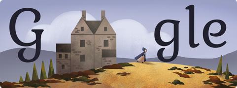Charlotte Brontë Doodle Google 21 aprile 2014