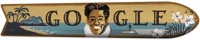 Duke Kahanamoku Doodle Google di oggi 24 agosto 2015