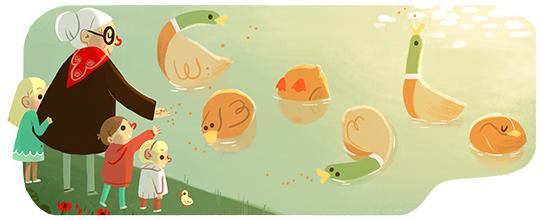 Festa dei Nonni Doodle Google 2 ottobre 2015.