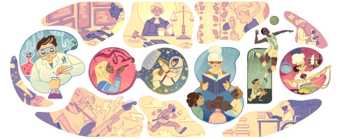 Doodle Google dedicato alla Giornata internazionale delle donne, festa dell'8 marzo