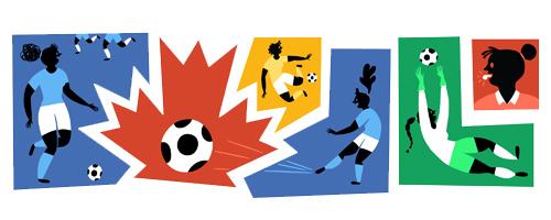 Coppa del Mondo di calcio femminile Canada 2015 Doodle Google