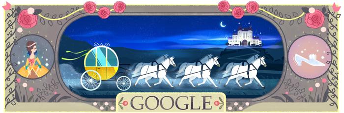 Cenerentola di Charles Perrault Doodle Google del 12 01 2016