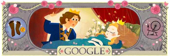 La bella addormentata di Charles Perrault Doodle Google del 12 01 2016