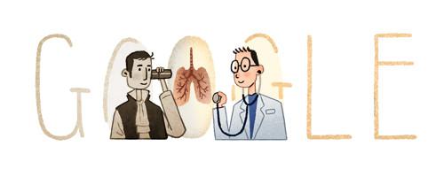 Rene Laennec Doodle Google 17 febbraio 2016