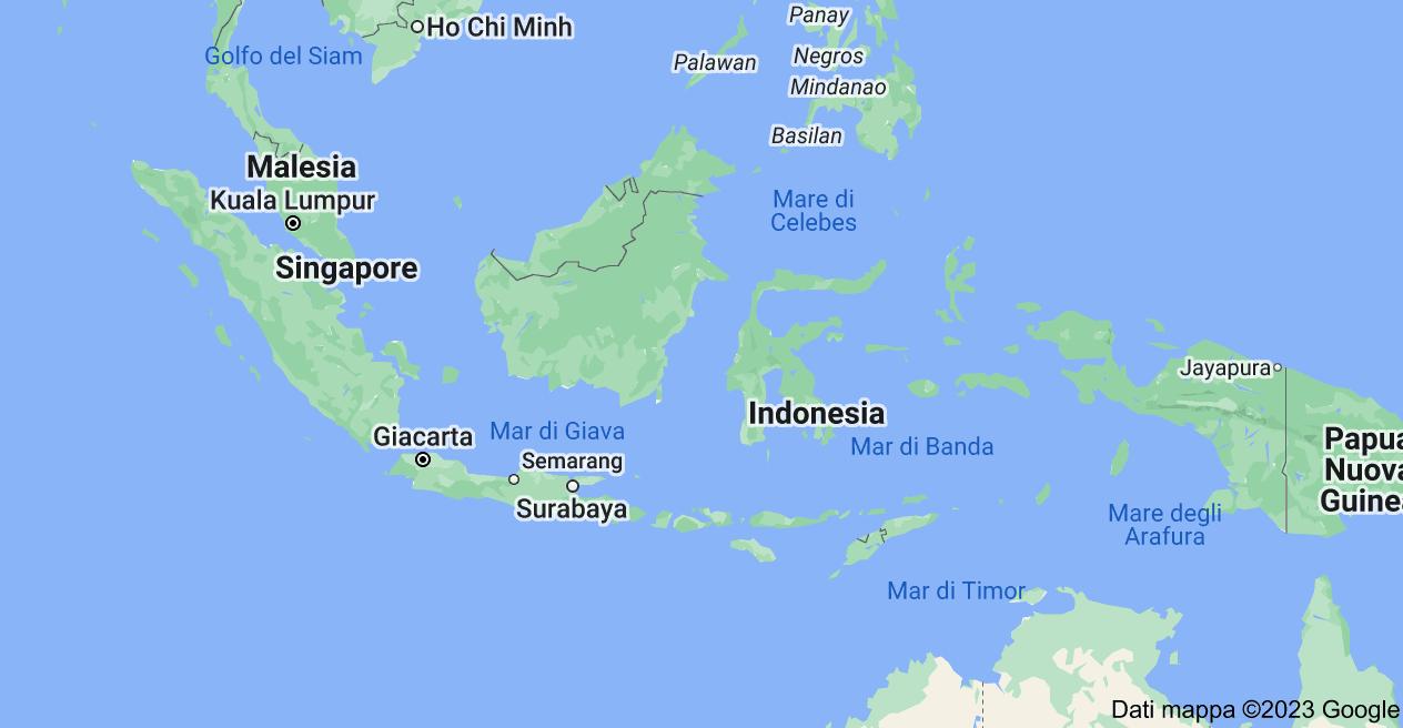 Mappa di: Indonesia