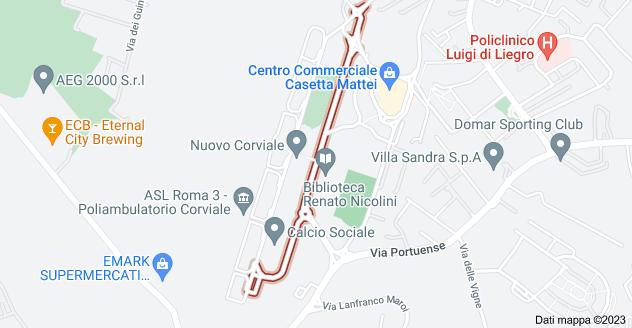 Mappa di: Via Marino Mazzacurati, 00148 Roma RM