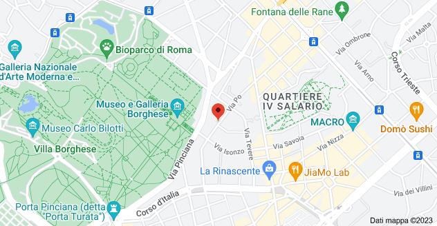 Mappa di: Via Po, 24, 00198 Roma RM