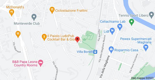Mappa di: Via Camillo Montalcini, 1, 00149 Roma RM
