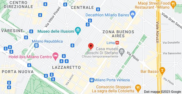 Mappa di: Via Benedetto Marcello, 6, 20124 Milano MI
