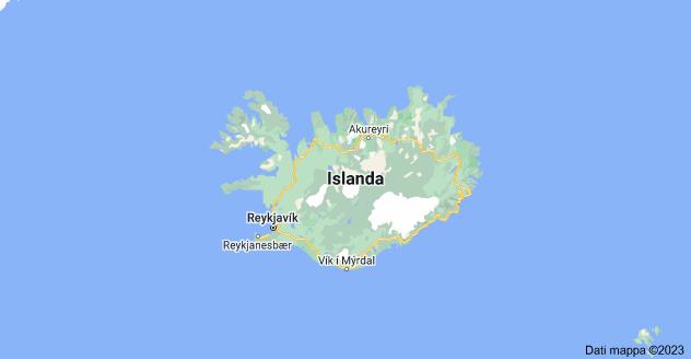 Mappa di: Islanda