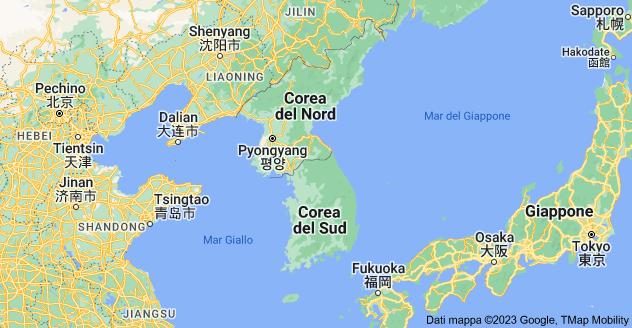 Mappa di: Corea
