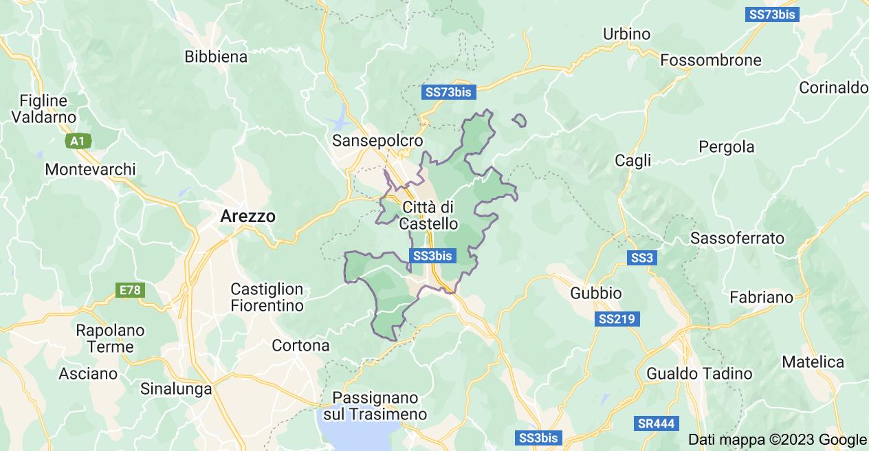 Mappa di: 06012 Città di Castello PG