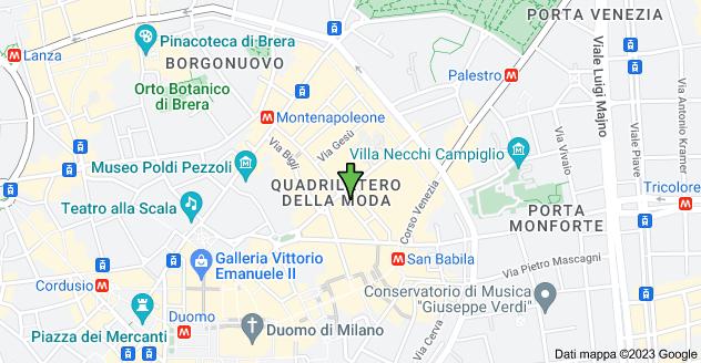 Mappa di: Via Monte Napoleone, 8, 20121 Milano