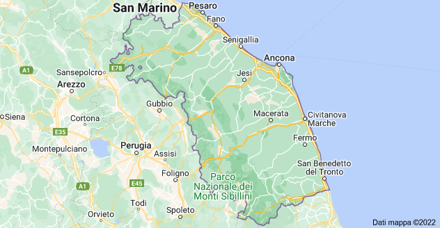 Mappa di: Marche