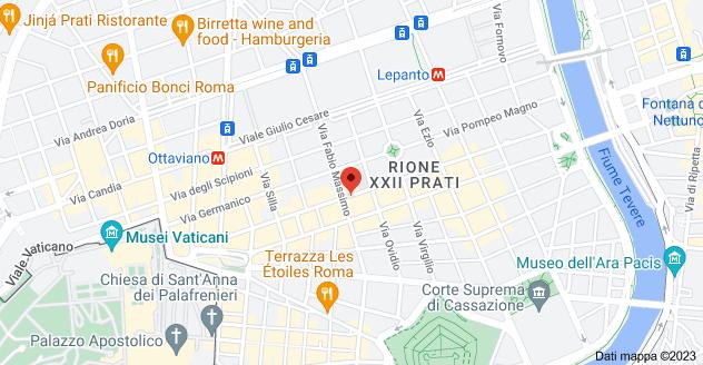 Mappa di: Via dei Gracchi, 123, 00192 Roma RM
