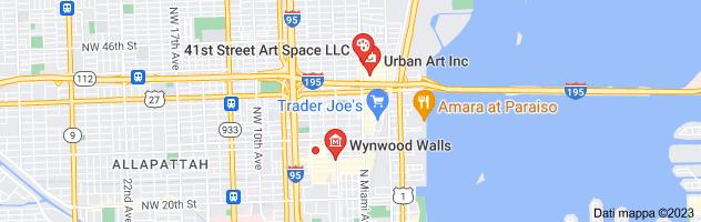 Mappa di: street art district miami