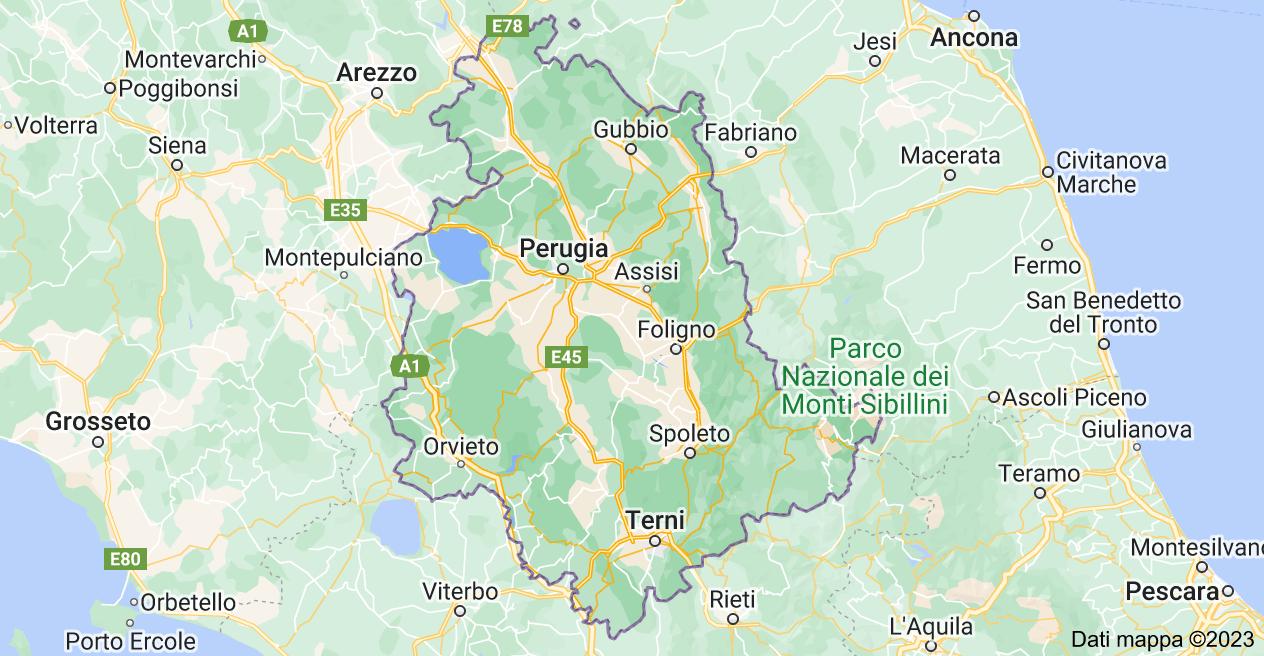 Mappa di: Umbria