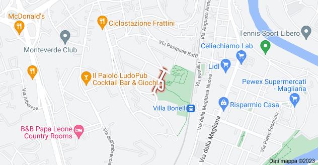 Mappa di: Via Camillo Montalcini, 00149 Roma RM