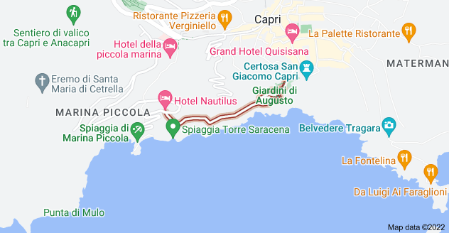 Map of Via Krupp, 80076 Capri NA