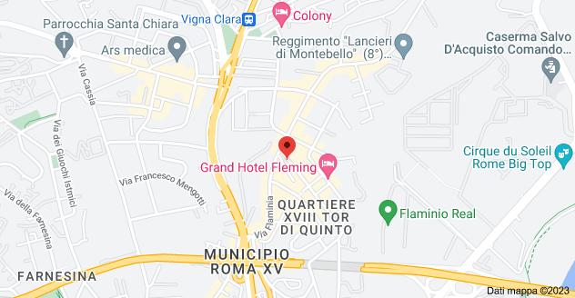 Mappa di: Via Bevagna, 14, 00191 Roma RM