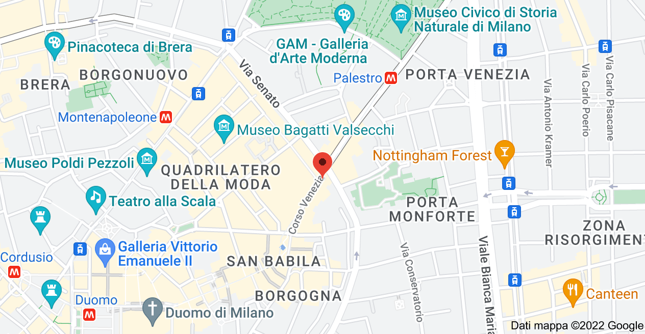 Mappa di: Corso Venezia, 12, 20122 Milano MI