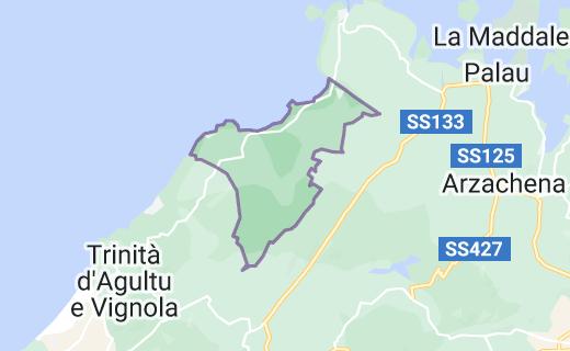 Mappa di: Aglientu Italia